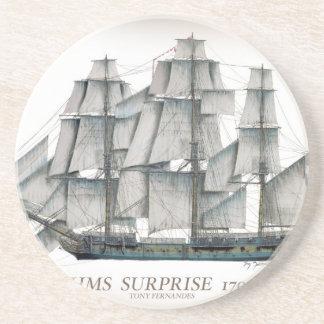 HMS-Überraschung 1796 gealtert Sandstein Untersetzer