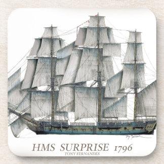 HMS-Überraschung 1796 gealtert Untersetzer