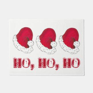 HO HO HO frohe Weihnacht-rotes Türmatte