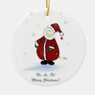 Ho! Ho! Ho! Rundes Keramik Ornament