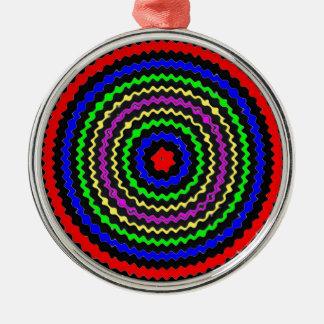 Hochenergie; ZIEL Wellen Rundes Silberfarbenes Ornament