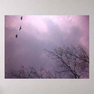 Hochfliegendes Hoch ist unsere Natur - Poster