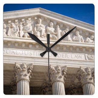 Höchstes Gericht des USA Quadratische Wanduhr