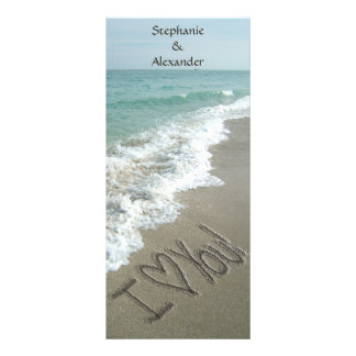 Hochzeit in Urlaubsorts-Programm, Strand-Thema Werbekarte