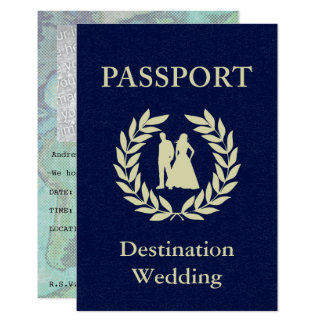 Hochzeit in Urlaubsortspaß 8,9 X 12,7 Cm Einladungskarte