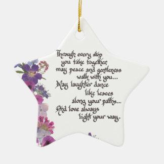 Hochzeit oder Verlobungs-Geschenk Keramik Ornament