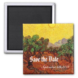 Hochzeiten, Olivenbäume Vincent van Goghs Quadratischer Magnet