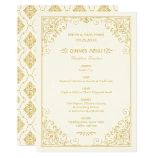 Hochzeits-Abendessen-Menü kardiert | 12,7 X 17,8 Cm Einladungskarte