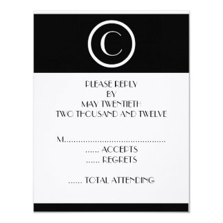 Hochzeits-Antwort-Karten des elegante 10,8 X 14 Cm Einladungskarte