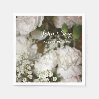 Hochzeits-Blumen-Foto, personalisierte Hochzeit Papierservietten
