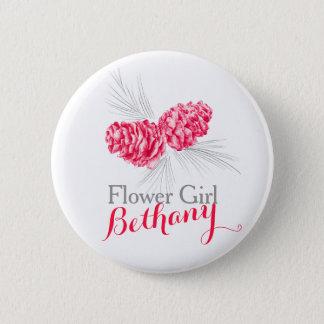 Hochzeits-Buttonknopf des Runder Button 5,7 Cm