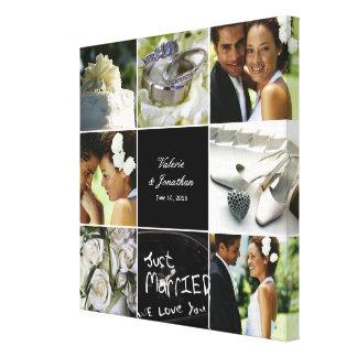 Hochzeits-Collage eingewickelte Leinwand Gespannte Galeriedrucke