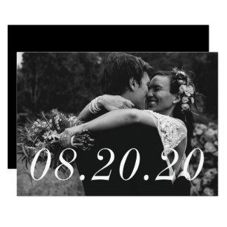 Hochzeits-Datums-gerade verheiratete 12,7 X 17,8 Cm Einladungskarte