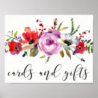 Hochzeits-Dekorations-Karten-und Geschenk-Plakat Poster
