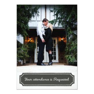Hochzeits-Einladungen, kundenspezifisches Foto 12,7 X 17,8 Cm Einladungskarte