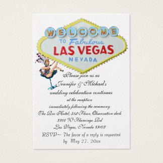 Hochzeits-Empfangs-Einladungs-Las VegasShowgirl Visitenkarte