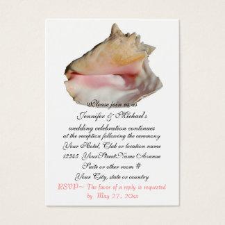 Hochzeits-Empfangs-EinschließungSeashell Visitenkarte