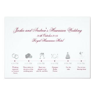 Hochzeits-Empfangs-RouteTimeline Karte