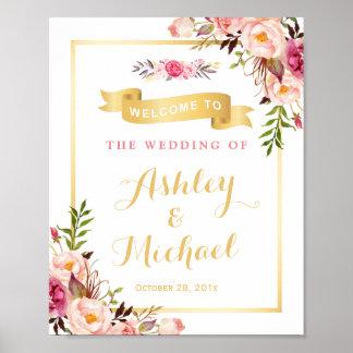 Hochzeits-Empfangs-Zeicheneleganter Poster