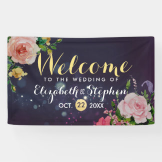 Hochzeits-Fahnen-lila Schein-Schnur-mit Banner
