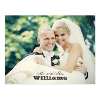 Hochzeits-Foto danken Ihnen | verheiratetes Postkarte