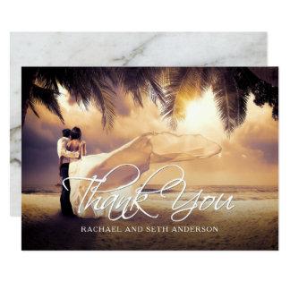 Hochzeits-Foto-Gewohnheit danken Ihnen 12,7 X 17,8 Cm Einladungskarte