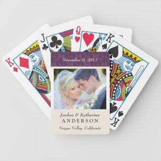 Hochzeits-Foto-personalisierte Spielkarten