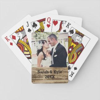 Hochzeits-Foto-Spielkarten Spielkarten