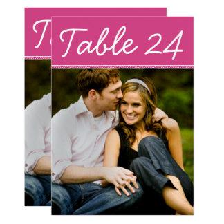 Hochzeits-Foto-Tischnummer kardiert | 12,7 X 17,8 Cm Einladungskarte