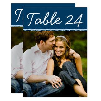 Hochzeits-Foto-Tischnummer kardiert | Karte