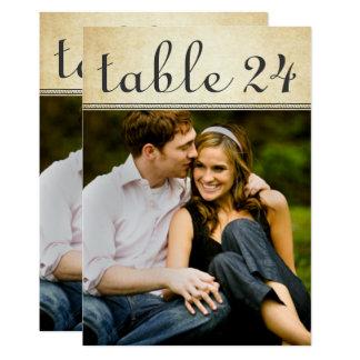 Hochzeits-Foto-Tischnummer kardiert | rustikalen Karte