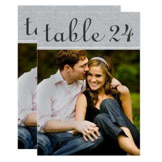 Hochzeits-Foto-Tischnummer kardiert | rustikales Karte