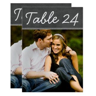 Hochzeits-Foto-Tischnummer kardiert | Tafel Karte