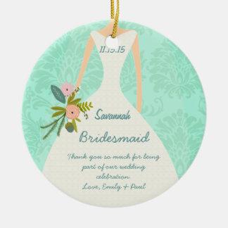 Hochzeits-Gastgeschenke-tadellose Damast-Hochzeit Rundes Keramik Ornament