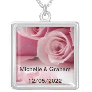 Hochzeits-Halsketten-Änderung der Text Halskette Mit Quadratischem Anhänger