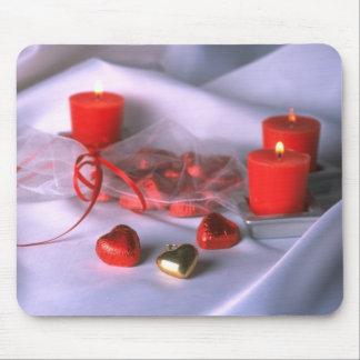 Hochzeits-Herz-Hintergrund Mousepads