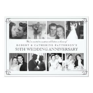 Hochzeits-Jahrestag der Foto-Feier-50. 12,7 X 17,8 Cm Einladungskarte