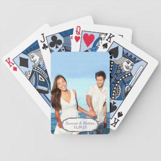 Hochzeits-Jahrestags-Foto-Andenken-Spielkarten Spielkarten