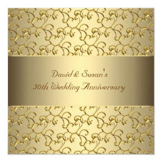 Hochzeits-Jahrestags-Party des GoldWirbels-Gold50. Karte