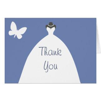 Hochzeits-Kleid danken Ihnen mit weißem Karte