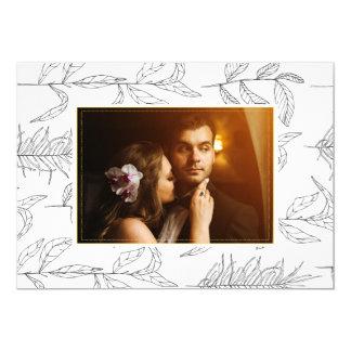 Hochzeits-kundenspezifische Foto-Karte 12,7 X 17,8 Cm Einladungskarte