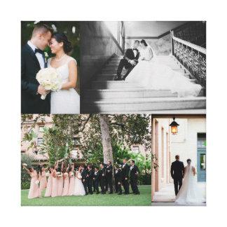 Hochzeits-Leinwand-Druck mit IHREN FOTOS Galerie Gefaltete Leinwand