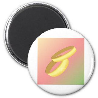Hochzeits-Magnet Runder Magnet 5,1 Cm