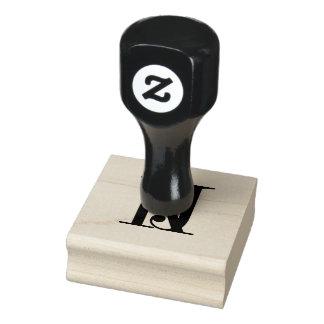 Hochzeits-Monogramm-Briefmarke Gummistempel