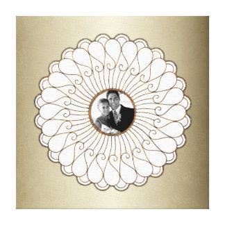 Hochzeits-oder Jahrestags-kundenspezifisches Foto Gespannte Galeriedrucke