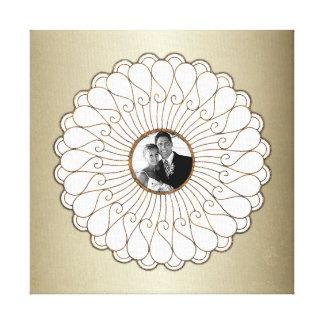 Hochzeits-oder Jahrestags-kundenspezifisches Foto Gespannter Galeriedruck