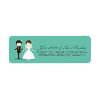 Hochzeits-Paar-Aufkleber