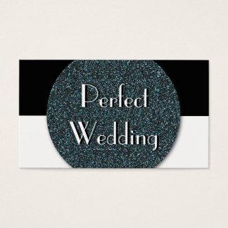 Hochzeits-Planer-Geschäfts-Karten-Blau-Glitter Visitenkarten