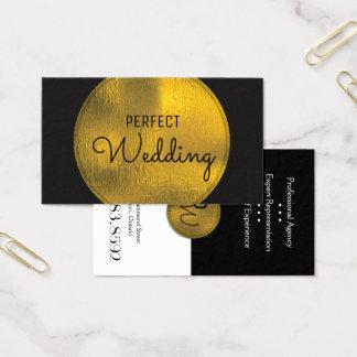 Hochzeits-Planer-Visitenkarte-stilvolle Goldfolie Visitenkarten