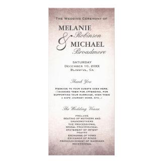 Hochzeits-Programm-elegantes Vintages erröten Werbekarte